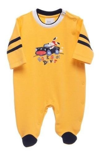 Macacão Laranja Piloto Driver Baby Fashion - M