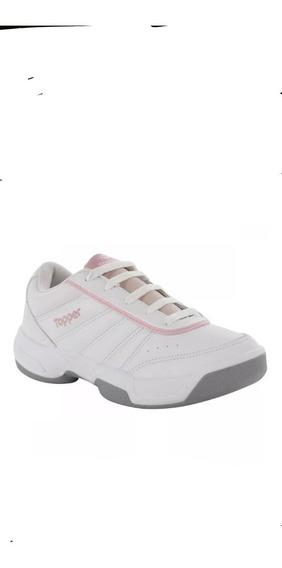 Topper Zapatillas Lady Tie Break Lll,tenis Blanco/rosa