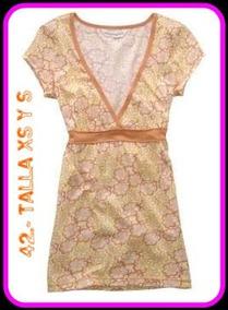 Hermosas Blusas Naranja /flores Aeropostale 100%origina