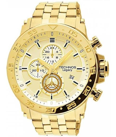 Relógio Technos Masculino Legacy Grande Dourado Js15ao/4x