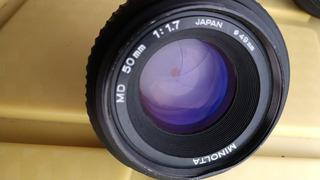 Lente Manual Minolta Md 50mm F1.7 Full Frame