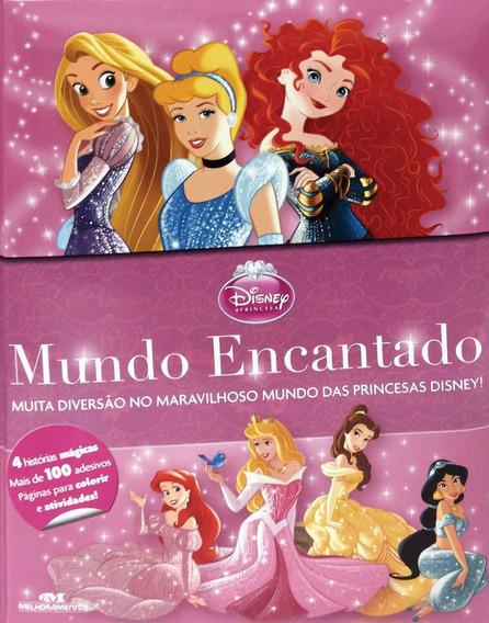 Livro Infantil Colorir Princesas Mundo Encantado Un
