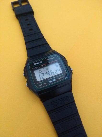 Relógio Casio F91 Verde Antiguidade! Modelo 593