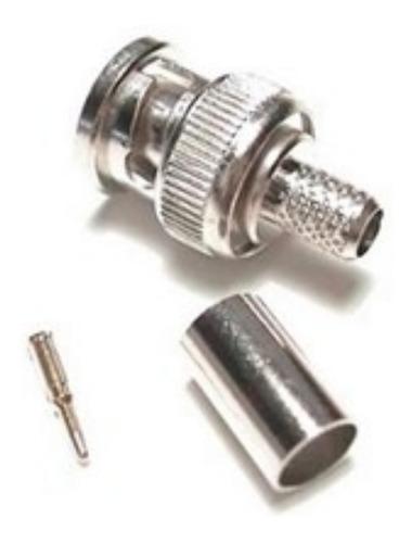 Imagem 1 de 1 de Conector Bnc M Crimpar 75 H 4 Mm Pacote Com 100 Un.
