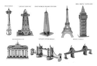 Rompecabezas 3d, Metal Monumentos Emblematicos (13 Piezas)