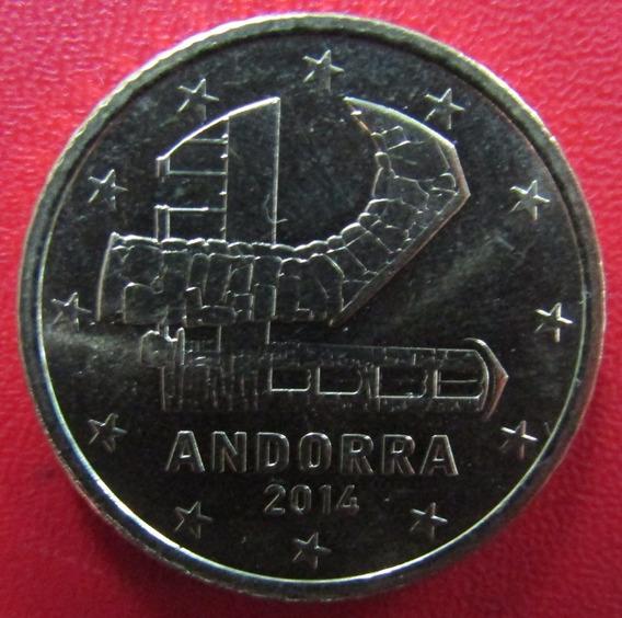 Andorra Moneda 50 Centavos De Euro 2014 Unc Km 525