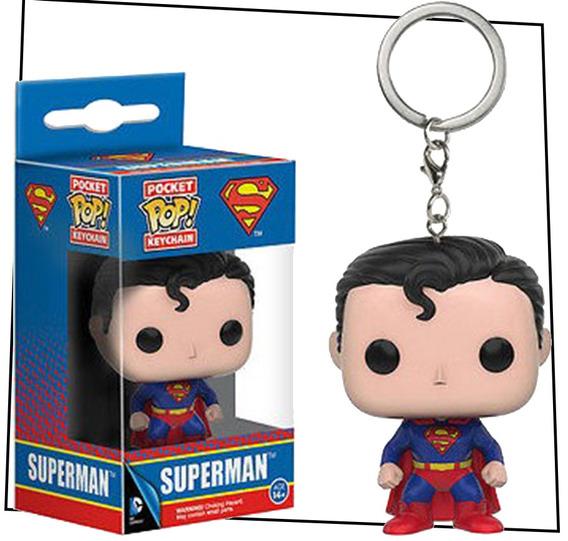 Funko Pop! Keychain - Dc Comics - Superman - Llavero