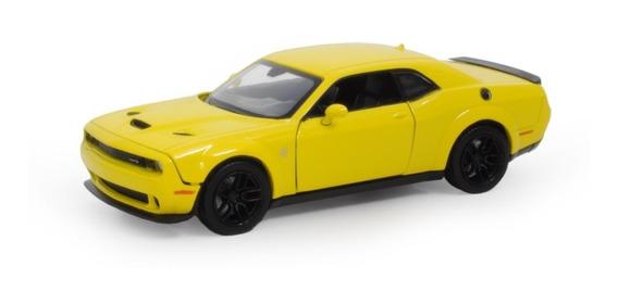 2018 Dodge Challenger Srt Amarelo - Escala 1:24 - Motormax