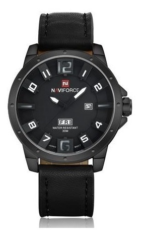 Relógio De Pulso Naviforce Nf9061m Preto E Branco + Frete