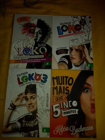Livros Eu Fico Loko 1, 2 E 3 (autografado) + Livro Da Kéfera