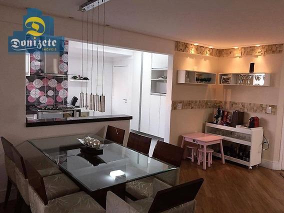 Apartamento Com 3 Dormitórios À Venda, 105 M² Por R$ 659.000,01 - Campestre - Santo André/sp - Ap8275