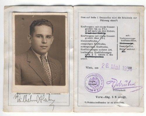 Antiguo Documento Austria Viena 1934