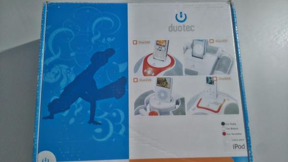 Dock Station Duotec Para iPod E Mp3 Player Duo168 Preta