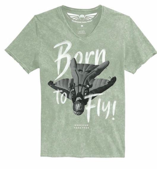 Camiseta Nv20 To Fly Nascidos Voar Paraquedas Black Friday