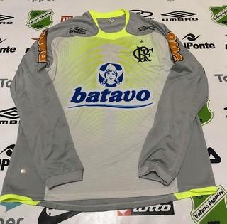 Camisa Oficial Flamengo Treino Olk Manga Longa Tamanho G