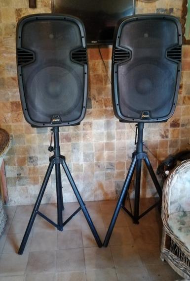 Cornetas Amplificadas +eccho 15 Pedestal Usb Bluetooth