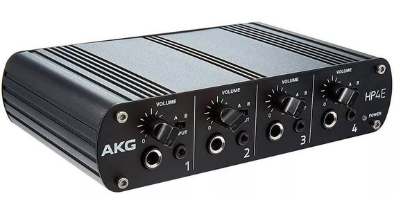Amplificador De Fone Akg Hp4e 4 Canais Powerplay Headphone