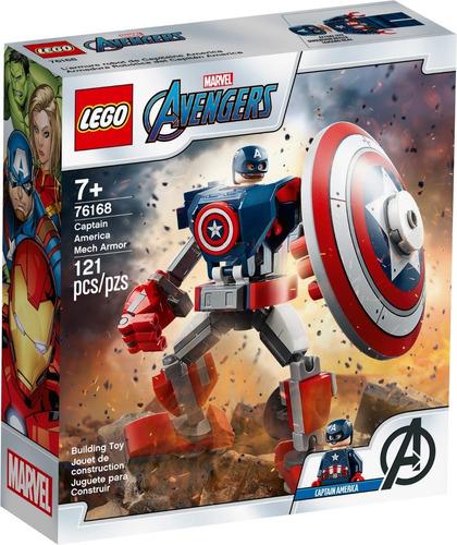Imagen 1 de 4 de Lego® Avengers- Armadura Robótica De Capitán América (76168)