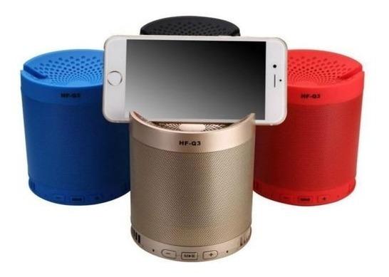 Caixa De Som Bluetooth Usb Mp3 Aux Com Suporte De Celular Q3
