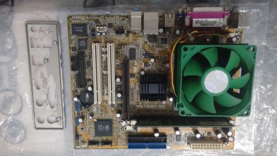 Placa Azus A7s8x-mx + Processador, Cooler E Memória