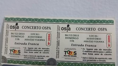 Raro Ingresso Concerto Ospa