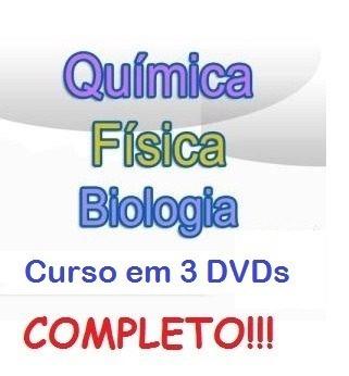 Aulas De Biologia + Física + Química Curso Em 3 Dvds Bvc