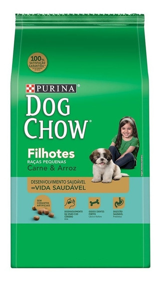 Ração Dog Chow Filhote Carne Raças Peq.15kg