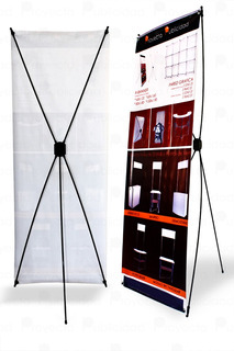 Porta Banner Display Araña Portatil 80x180 Economico C/bols