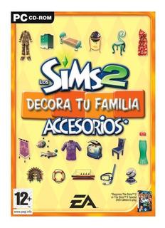 Los Sims 2 Decora Tu Familia Juego Pc Original Cd Accesorios