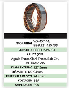 Estator Wa-407-44 / Bb-9.121.450.455