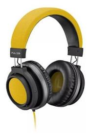 Fone De Ouvido Gamer Grande Amarelo Potente Pulse Promoção