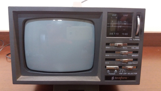 Televisor Analógico Broksonic Rádio Am Fm Preto Branco 5