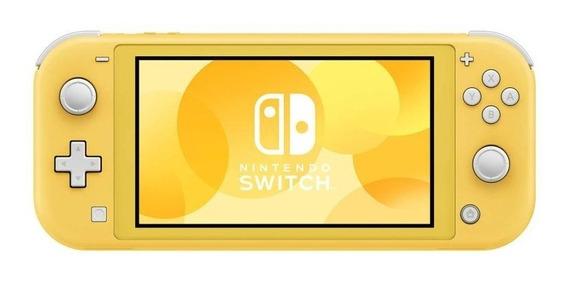 Nintendo Switch Lite 32gb Azul-turquesa Amarelo E Cinza