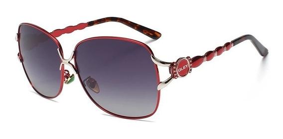 Gafas De Sol Vintage Para Mujer Polarizado Marca Oley Uv400