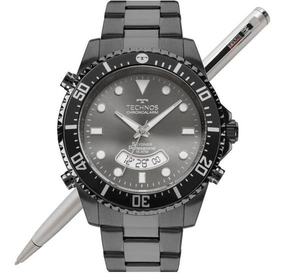 Relógio Technos Masculino Skydiver Grafite T205je/4p