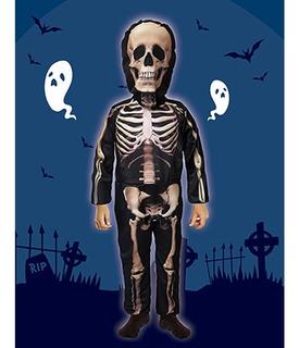 Disfraz De Esqueleto Halloween Talle 2