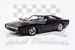 1:24 Dodge Charger Doms Velozes E Furiosos Preto Fosco Jada