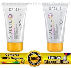 Kit C/2 Protetor Solar Facial Fps30 E Fps70 Racco - 40g