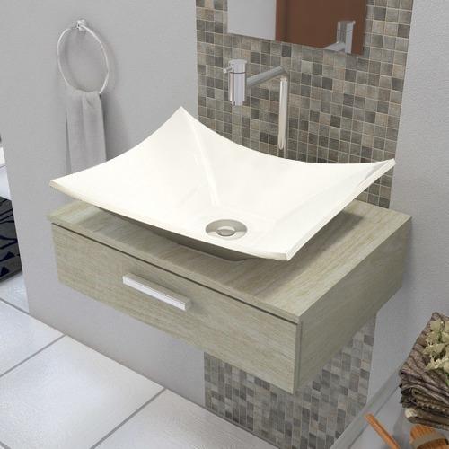Cuba Banheiro Folha Kit Com Torneira Cromada E Válvula