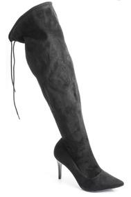 Botas Botitas Zapatos Mujer Bucaneras Largas Con Taco Fino