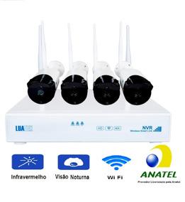 Kit C/4 Câmeras De Segurança Wifi 720p Empresas Residências