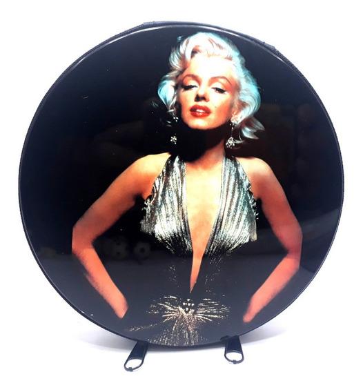 Busto Color Marylin Monroe Estojo Para Cd/dvd Metal 24 Un.