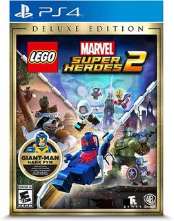 Lego Marvel Super Heroes 2 Deluxe Edition Ps4 Nuevo Sellado