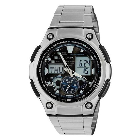 Relógio Masculino Anadigi Casio Aq190wd1av - Prata