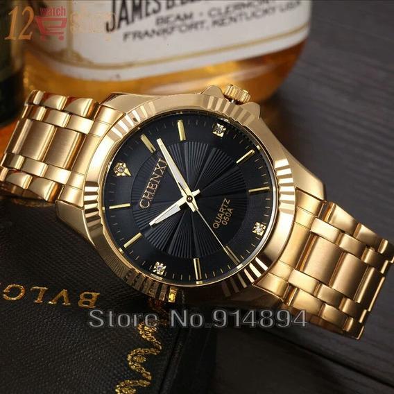 Relógio De Pulso Feminino Dourado Chenxi Original