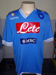 Camisa Napoli Macron Patch Copa Italia Serie A Tim