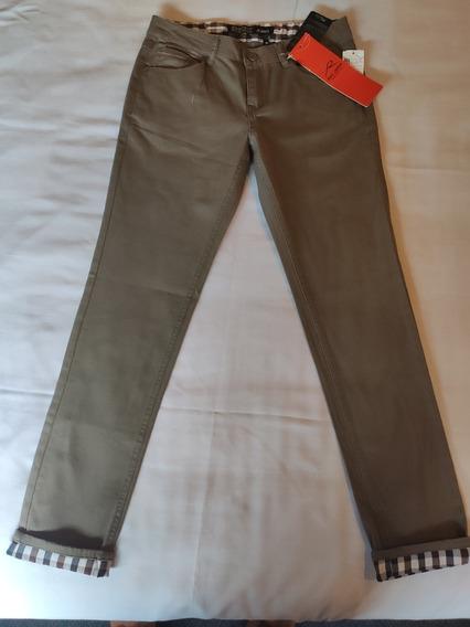 Pantalón Casual Marca Jack & Jones Para Mujer Color Cafe #97