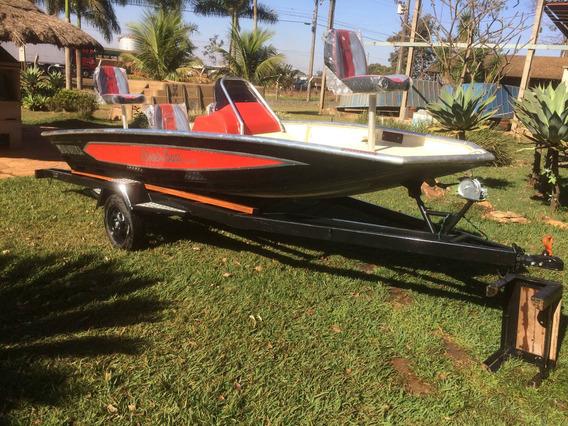Lancha Black Bass 5m Uai Nautica,motor 40hp Mercury, Carreta