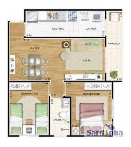 Imagem 1 de 13 de Apartamento Em São Pedro  -  Osasco - 2275