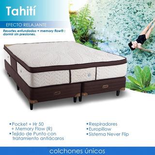 Colchon Tahiti Pillow Topacio Resorte Poquet 200x160